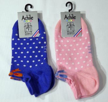 Achile Kindersocken Invisible Pois Sneaker